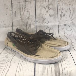 Sanuk Boat Shoes with imprint Size 13